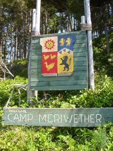 Camp Meriwether's Beach Enterance